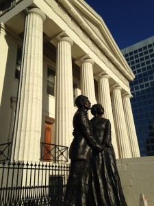Dred Scott and his wife Harriet helped spark a century long civil rights movement here.