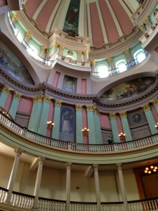 The gorgeous original interior of the Old Courthouse
