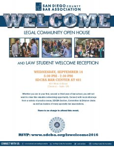 Law Student Welcome Reception - 2016