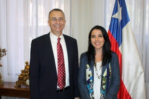 Dean Niels Schaumann with the Hon. Patricia Pérez Goldberg, Minister of Justice of Chile